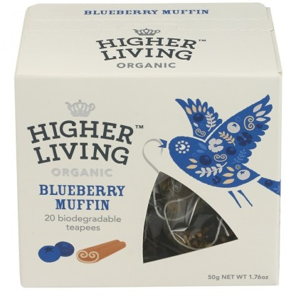 Ceai premium Blueberry Muffin BIO 20 plicuri Higher Living