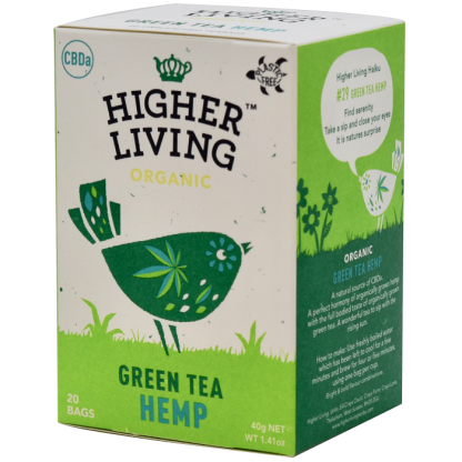 Ceai verde Hemp (Canapa) BIO 20 plicuri Higher Living
