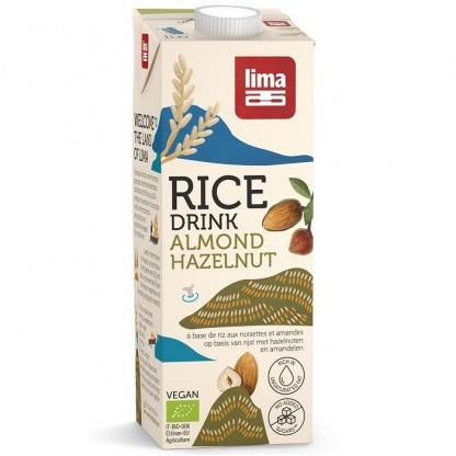 Bautura vegetala de orez cu migdale si alune de padure BIO 1 litru Lima Food