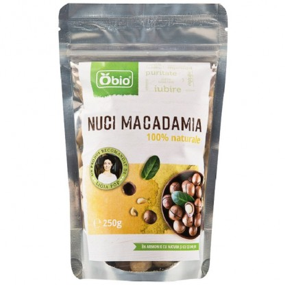 Nuci macadamia raw 250g Obio