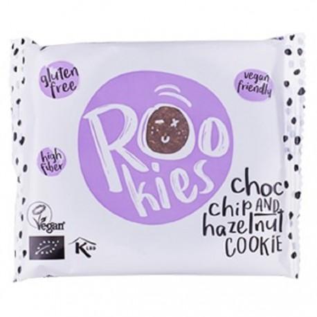 Cookie cu ciocolata si alune BIO 40g Rookies