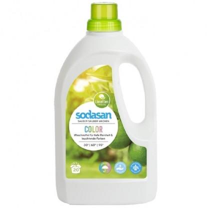 Detergent BIO lichid pt rufe colorate Lime 1.5L Sodasan