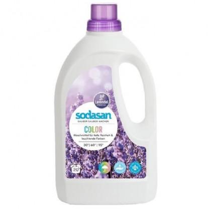 Detergent Bio Lichid Rufe Albe si Color Lavanda 1.5 L Sodasan