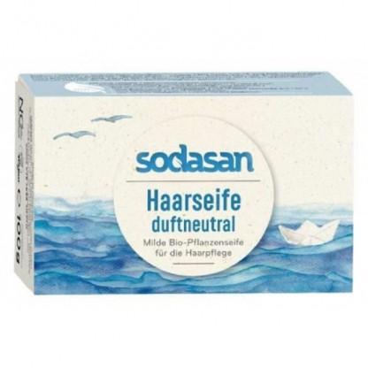 Sampon Solid pentru Par, fara parfum, 100g Sodasan