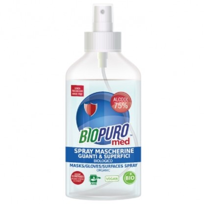 Spray igienizant BIO pt masca, manusi si suprafete 75% alcool 250ml Biopuro