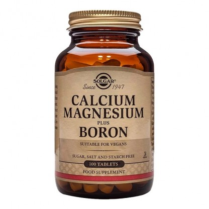 Calcium Magnesium cu Boron (Calciu, Magneziu si Bor) 100 tablete Solgar