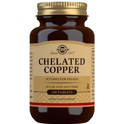 Chelated Copper 100 tablete (Cupru chelat) Solgar