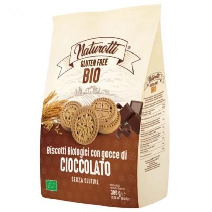Biscuiti cu ciocolata BIO fara gluten 300g Naturotti