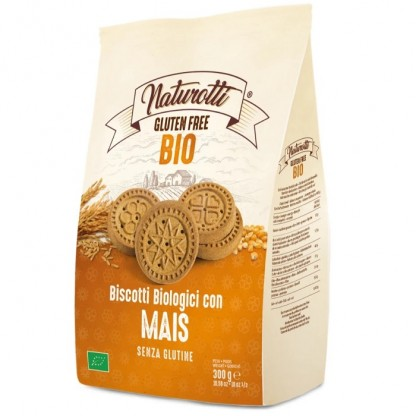 Biscuiti cu porumb BIO fara gluten 300g Naturotti
