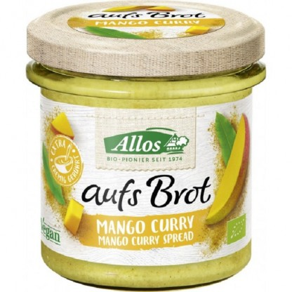 Crema tartinabila cu mango si curry BIO 140g Allos