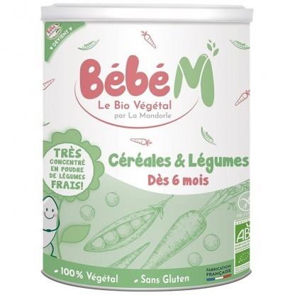 Cereale cu legume pentru bebeluși, de la 6 luni (fara gluten) 400g Bebe Mandorle