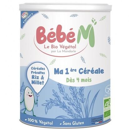 Cereale pentru bebelusi (fara gluten) de la 4 luni 400g Bebe Mandorle