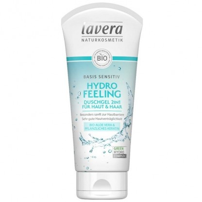 Sampon si gel de dus cu aloe vera si cheratina Basis Sensitiv 200ml Lavera