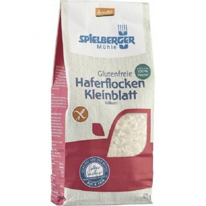 Fulgi mici de ovaz integral BIO fara gluten 475g Spielberger