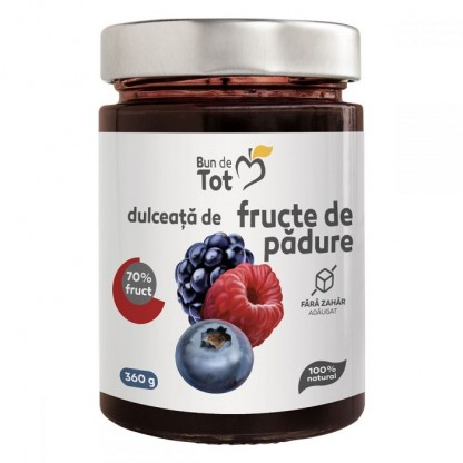 Bun de tot - Dulceata de fructe de padure fara zahar 360g Dacia Plant