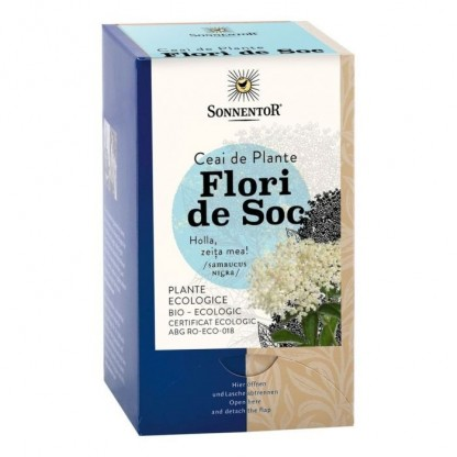 Ceai Flori de Soc BIO 18 pliculete Sonnentor