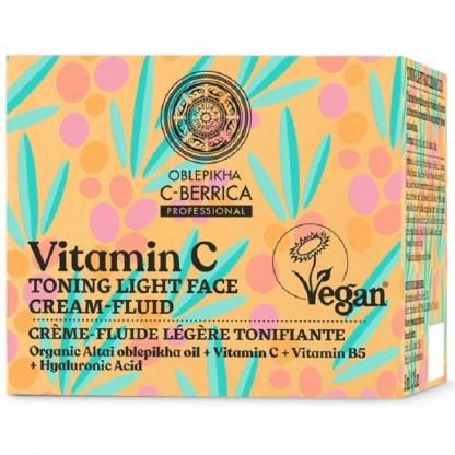 Fluid light tonifiant cu vitamina C, B5 si acid hialuronic 50ml C-Berrica