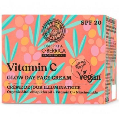 Crema de zi iluminatoare cu vitamina C & niacinamida FPS20 50ml C-Berrica