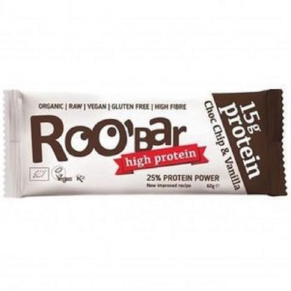 Baton proteic vanilie si ciocolata raw BIO 60g Roobar