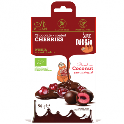 Visine invelite in ciocolata BIO 50g Super Fudgio