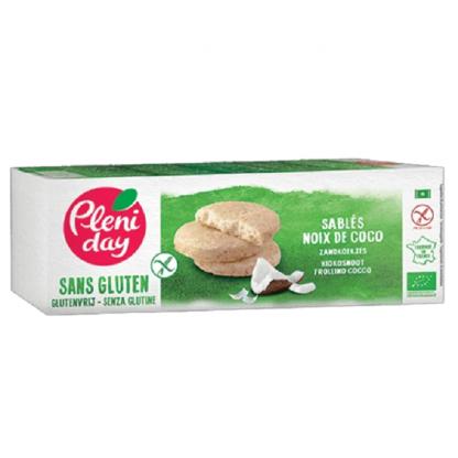 Biscuiti fara gluten cu nuca de cocos 120g Pleniday
