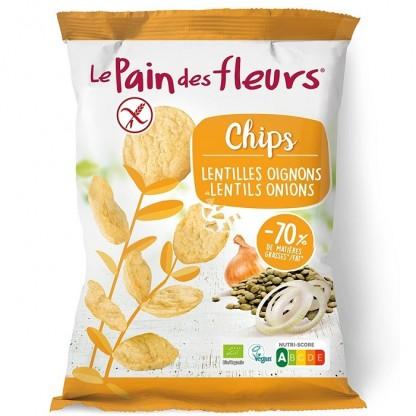 Chipsuri de linte cu ceapa fara gluten 50g Le Pain des Fleurs