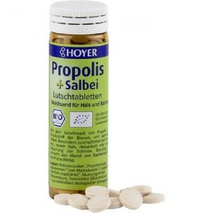 Dropsuri masticabile cu propolis si salvie BIO 60tb Hoyer