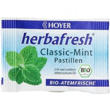 Herbafresh clasic pastile respiratie proaspata cu menta bio 17g Hoyer