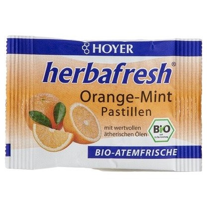 Herbafresh pastile respiratie proaspata cu menta si portocale BIO 17g Hoyer