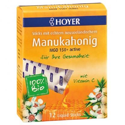 Miere de Manuka BIO +150 MGO cu Vitamina C 12 doze a 8g Hoyer