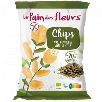 Chipsuri de linte fara gluten 50g Le Pain des Fleurs