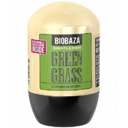 Deodorant natural roll-on pt barbati Green Grass (lemongrass) 50ml Biobaza