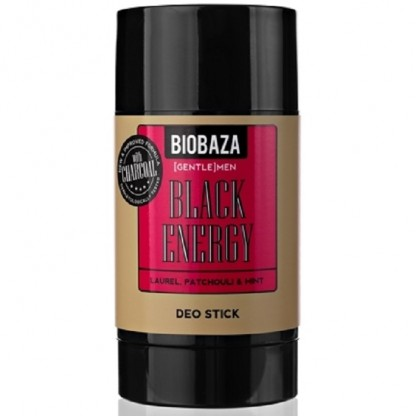 Deodorant stick natural Black Energy cu dafin si patchouli 50g Biobaza