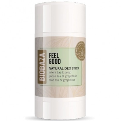 Deodorant stick natural Feel Good cu ceai verde si grapefruit 50g Biobaza