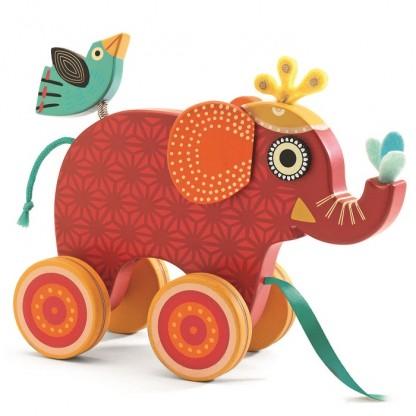 Jucarie de tras Djeco – Elefantul Indy