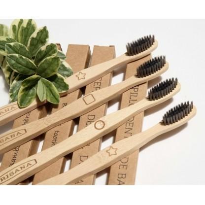 Periuta de dinti din bambus cu carbon activ Irisana