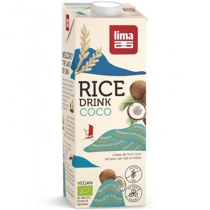 Bautura vegetala de orez cu cocos BIO 1 litru Lima Food