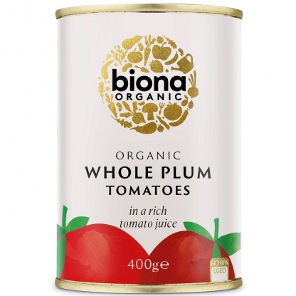 Rosii intregi la conserva BIO 400g Biona
