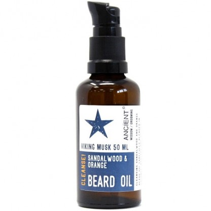 Ulei de barba natural cu lemn de santal si portocala Viking Musk 50ml Ancient Wisdom