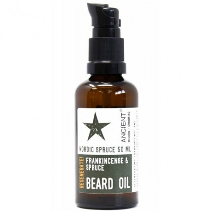 Ulei de barba natural cu tamaie Nordic Spruce 50ml Ancient Wisdom