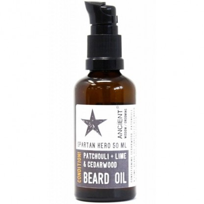 Ulei de barba natural cu patchouli si lime Spartan Hero 50ml Ancient Wisdom