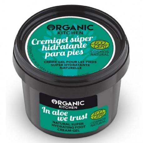 Crema-gel super hidratanta pt picioare In Aloe We Trust 100g Organic Kitchen