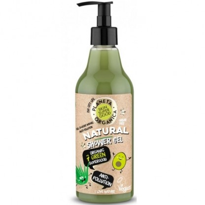 Gel de dus natural Anti-Poluare Skin Supergood 500ml Planeta Organica