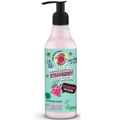 Lotiune de corp Skin Supergood cu capsuni Strawberry Vacation 250ml Planeta Organica