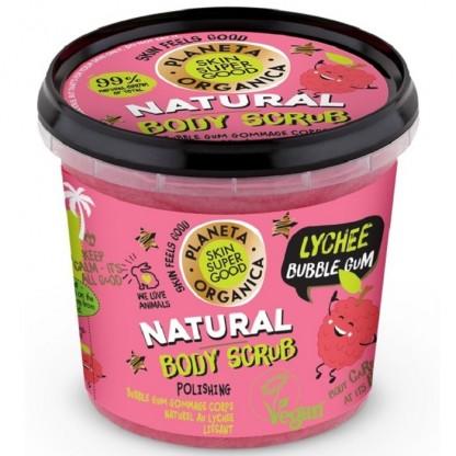 Scrub de corp delicios Skin Supergood Lychee Bubble Gum 360ml Planeta Organica