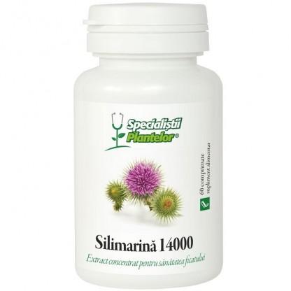 Silimarina 14000 pt sanatatea ficatului 60 comprimate Dacia Plant