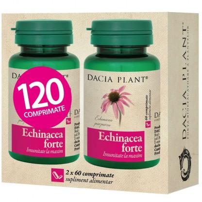 Pachet Echinaceea Forte (sistem imunitar puternic) 60 comprimate 1+1 cadou Dacia Plant
