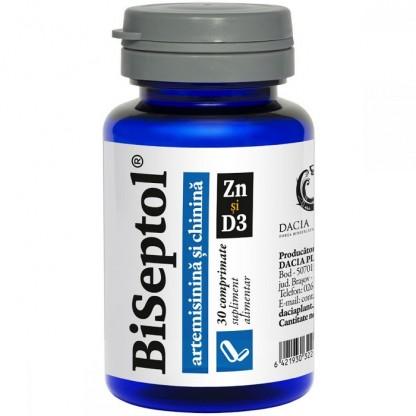BiSeptol cu artemisinina si chinina cu Zn si D3 - 30 comprimate Dacia Plant