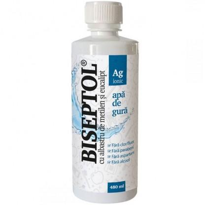 BiSeptol apa de gura cu albastru de metilen si eucalipt 480ml Dacia Plant
