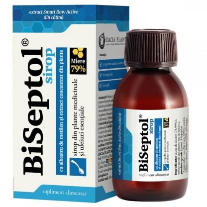 BiSeptol sirop cu plante medicinale si albastru de metilen 200ml Dacia Plant